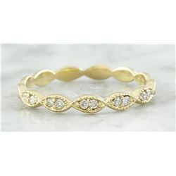 0.15 CTW Diamond 18K Yellow Gold Ring