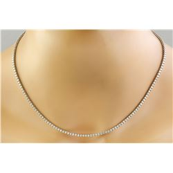 4.00 CTW 14K White Gold Diamond Necklace