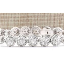 3.75 CTW Natural Diamond Bracelet In 14k White Gold