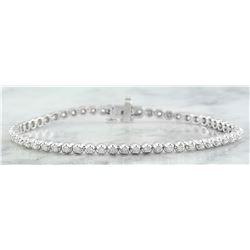 1.45 CTW Diamond 18K White Gold Bracelet