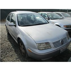 VW JETTA 2002 SALV T/DONATION