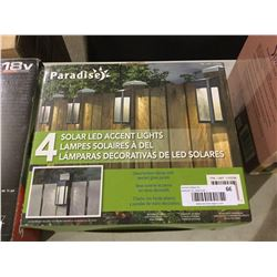 Paradise 4 Solar Led Accent Lights A D Auction Depot Inc
