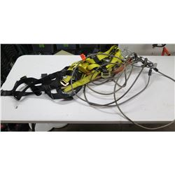 Guardian Fall Protection Safety Harness, Cables, Connectors, etc (black rope hanger not included)