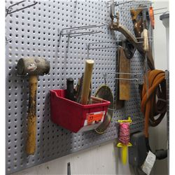 Misc Tools: Sledge Hammer, Saw Blades, Clamps, Hose, etc
