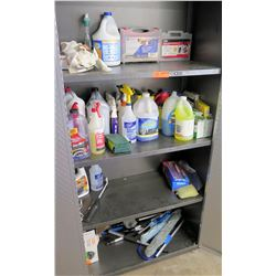 Contents of Cabinet: Tire Repair Kits, All Purpose Sprayers, Nu-Brite Cleaner, etc