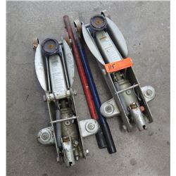 Qty 2 ACDelco Hydraulic Trolley Floor Jacks