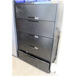 Black Metal 5 Drawer Lateral File Cabinet
