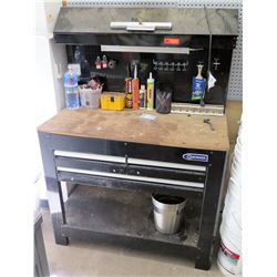 Kobalt Black Metal Work Table w/ 3 Drawers (Unit Only, Contents Not Included)