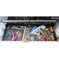 Contents of Drawer: Misc Hand Tools, Hammers, Wrenches, Pliers, Screwdrivers, etc