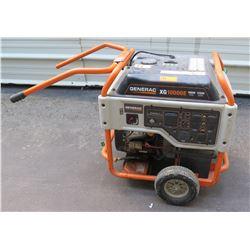 Generac XG10000E Portable 10,000 Watt Generator w/ OHVI Engine (Turns Over, Needs Plugs)