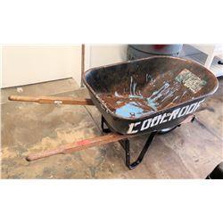 Black Metal Urien Tools Wheelbarrow w/ Wood Handles