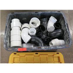 "Bin Plastic PVC Pipe Elbows & Fittings 3"" Fittings / 4 by 3's"