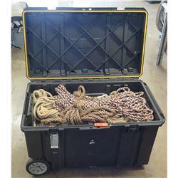 DeWalt Rolling Heavy Duty Storage Box w/ Misc Length & Size Ropes