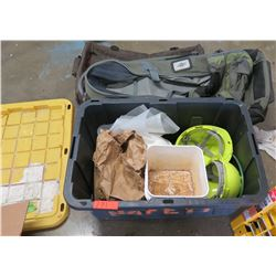 Bin Construction Hard Hats, Eagle Creek Canvas Duffle Bag, etc