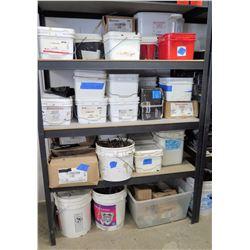 Shelf & Contents: Concrete & Framing Nails, Drive Fasteners, Simpson Clips, etc