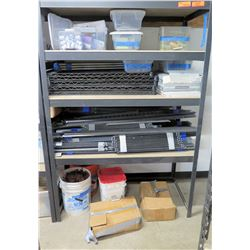 Shelf & Contents: Premium Porcelain, Calcium Test Kits, Post Base & Anchors, etc