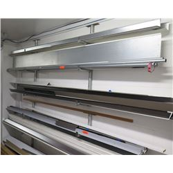 I-Beams, Channel & Angle Iron, Steel Pipes, etc (Wall Racks Not Included)