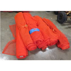 Qty 6 Rolls Orange Safety Barrier Temporary Construction Fencing