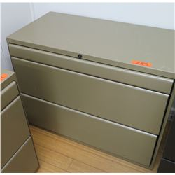 Beige Metal 2 Drawer Legal Size Lateral File Cabinet