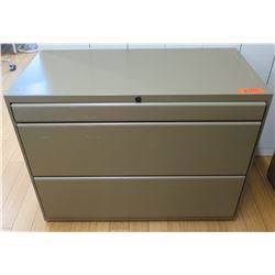 Beige Metal 2-Drawer Lateral File Cabinet