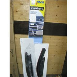 AVS BUGFLECTOR 2 AND DODGE WINDOW GUARDS