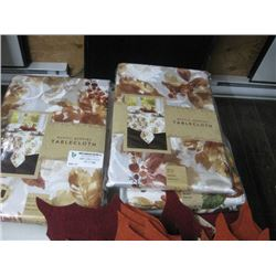 SET OF 4 ASSORTED TABLE CLOTHS