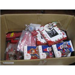 BOX OF ASSORTED CHRISTMAS DECOR