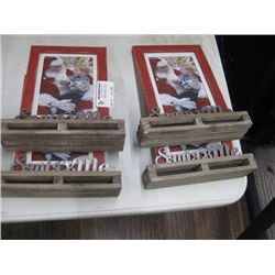 SET OF 4 SANTA AND ME PICTURE FRAMES