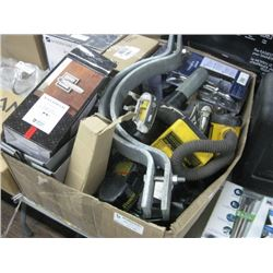 HUGE BOX OF TOOLS AND HARDWARE