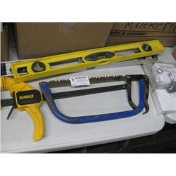 LEVELS CLAMP AND SAW