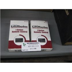 PAIR OF LIFTMASTER 1 BUTTON OPENERS