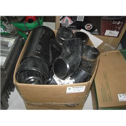 BOX OF CAST PIPE