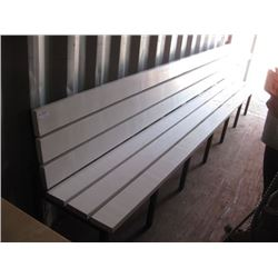 137 INCH WHITE BENCH SOME SCRATCHES