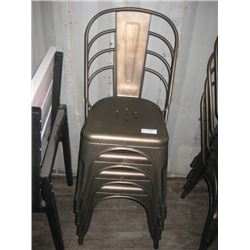 4PC ONE MONEY METAL CHAIR