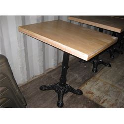 30 X 24 INCH BLONDE SINGLE TABLE