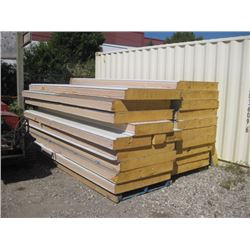 APPROX 17PC  6 INCH INSULATED PANELS 12 FT X 42 INCHES PLUS EXTRA PIECES