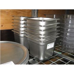 12 PC ONE SIXTH STAINLESS STEEL INSERTS