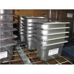 11PC ONE NINTH STAINLESS STEEL INSERTS