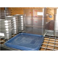 2 PC 12 QUART CAMBRO FOOD STORAGE CONTAINERS WITH LIDS