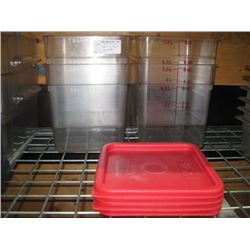 4PC 8 QUART CAMBRO FOOD STORAGE CONTAINER WITH LIDS