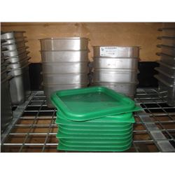 9PC 2 QUART CAMBRO FOOD STORAGE CONTAINER WITH LIDS