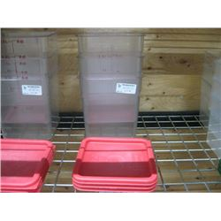 3PC 8 QUART CAMBRO FOOD STORAGE CONTAINERS WITH LIDS