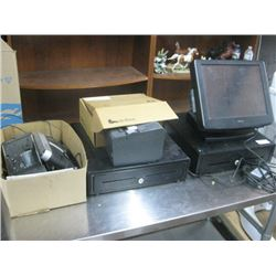 POSIFLEX MONITOR SCREEN AND EQUIPMENT POS SYSTEM