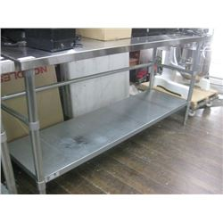 6FT STAINLESS STEEL PREP TABLE