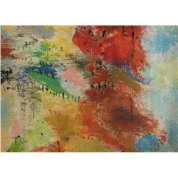 LangdonArt original painting for table, self, paperweight on desk at home or office - peinture