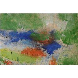 peinture LangdonArt Deux Lacs Bleus Intriguants - LangdonArt painting Two Intriguing Blue Lakes