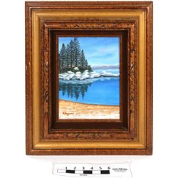 Sand Harbor Winter Oil on Canvas  (120880)