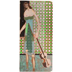 """William Forrest Martin Painting """"Lost Musician""""  (108789)"""