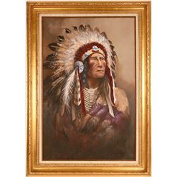 Chief Strong Wind Painting by Hanson  (120810)