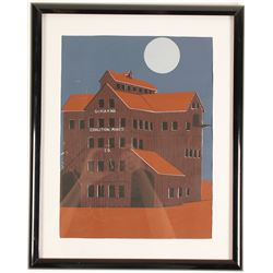 Silkscreen Print of Silver King Building  (61568)